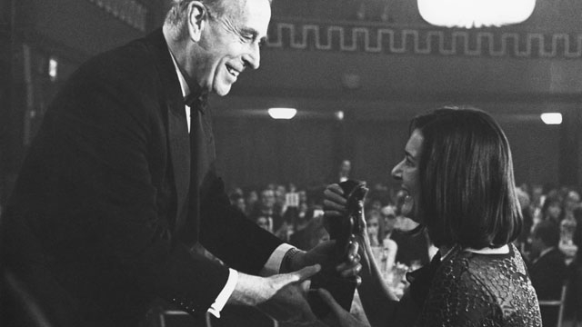 Verity Lambert receives the Drama Series award, presented by the Earl Mountbatten of Burma
