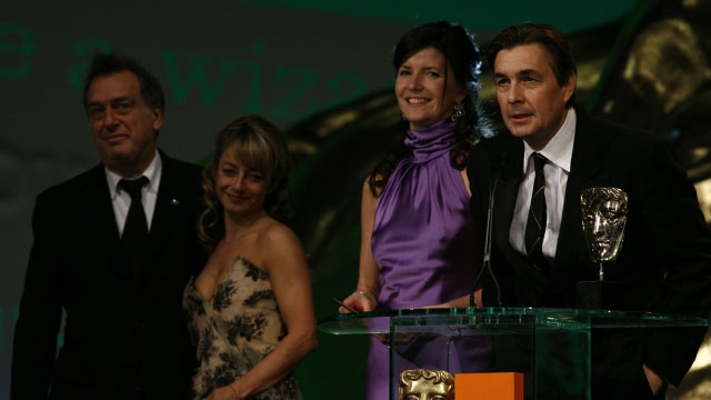 The production team behind The Queen, winner of the Film category at the Orange British Academy Film Awards in 2007.