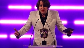 Jonathan Ross presenting at the BAFTA Games Awards
