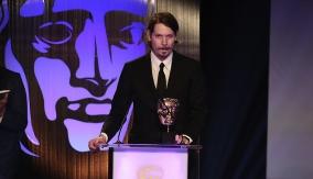 Lucas Pope at the podium