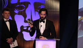 Neil Druckmann at the podium