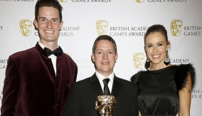 Sports winner with the presenters