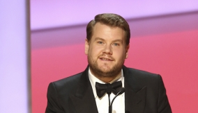 James Corden presents the award