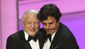 David Attenborough accepts the award
