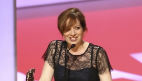 Katherine Parkinson at the podium