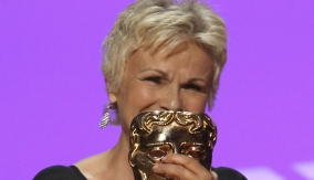 Julie Walters at the podium