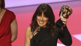 Davina McCall accepts the award