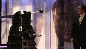 A dalek makes an appearance