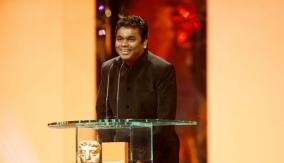 AR Rahman at the Podium