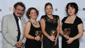 The winners with Robert Winston