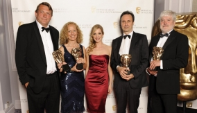 The winners with Joanne Froggatt