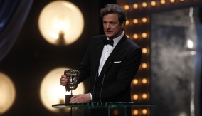 Colin Firth at the Podium