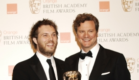 With Colin Firth in Press Room