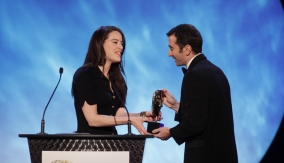 Michelle Ryan presents the award