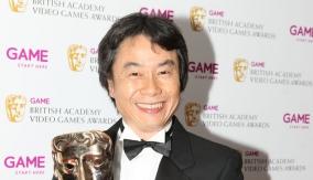 Miyamoto in the Press Room