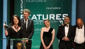 Karen Ross accepts the award