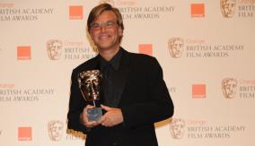 Aaron Sorkin with his BAFTA