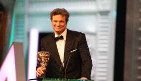 Colin Firth Collects His BAFTA