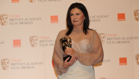 Colleen Atwood with her BAFTA