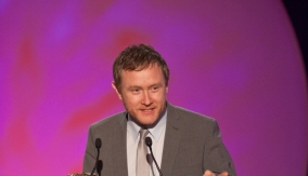 Alan Shannon accepts the award