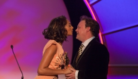 Fletcher and presenter Alesha Dixon