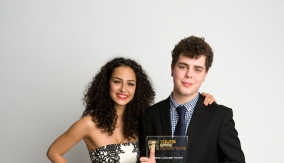 Charlie with Anna Shaffer