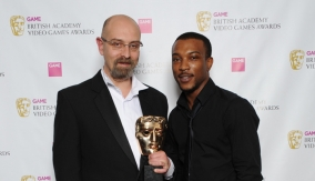 With actor Ashley Walters