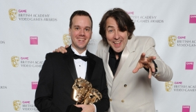 With presenter Jonathan Ross