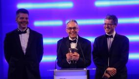 The team accept the award