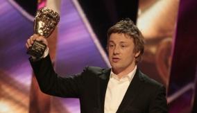 Jamie Oliver at the podium