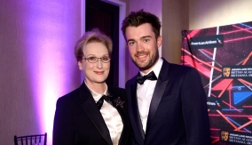 Meryl Streep with ceremony host Jack Whitehall