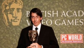 Will Wright in the press room