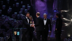 David Beckham presents the award