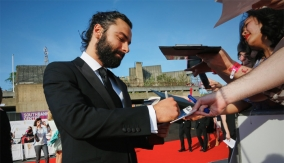Aiden Turner on the red carpet