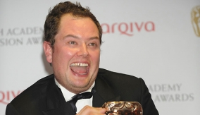 Alan Carr in the Press Room