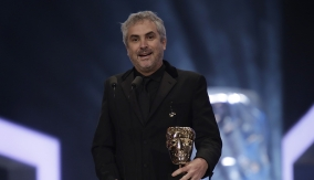 Alfonso Cuarón at the Podium