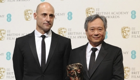 Mark Strong and Ang Lee