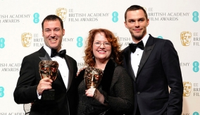 The winners and Nicholas Hoult