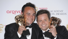 Ant and Dec in the press room