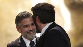 Clooney & Affleck at the Podium