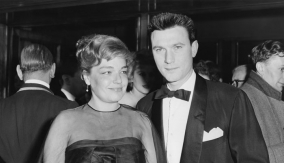 With Laurence Harvey