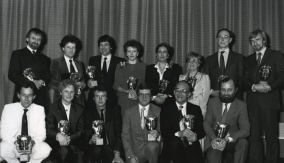 At the ceremony in 1985