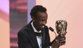 Barkhad Abdi at the Podium