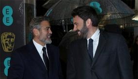 Affleck & Clooney arrive