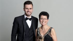 Kay Benbow with Carl Jenkinson
