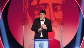 Graham Linehan at the podium