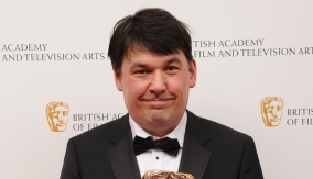 Graham Linehan backstage