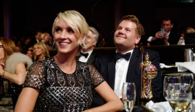 Corden watches the ceremony