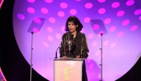 Fotini Dimou at the podium