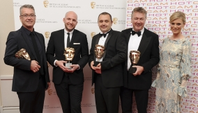 The winners with Emilia Fox